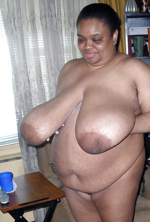 Very fat black mature woman..