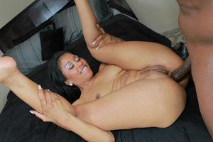 Ebony Yasmine gets her ass drilled by..