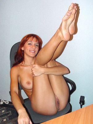 Beautiful and cheerful redhead girl..
