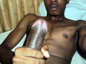 Black guy want to show you his huge rod