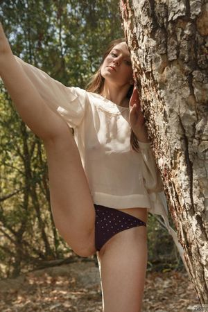Elektra Rose Naked in the Woods