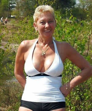 Busty and sexy english old woman, big..