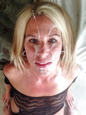 Cum LOving Wife After Facial Selfie