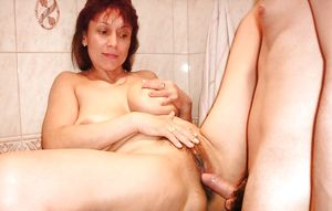 Russian mom Amalia with son in the..