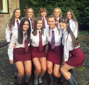 Ready For New School Year Dressed In..