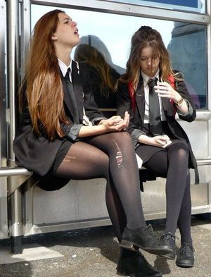 Image result for schoolgirls..