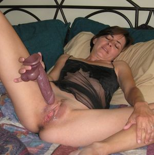 Derby MILF - Black Cami and Dildo play..