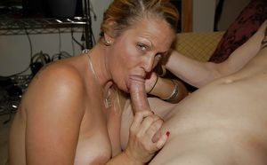 Mature wife suck fuck young - MILF