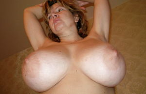 Russian woman with amazing giant saggy..