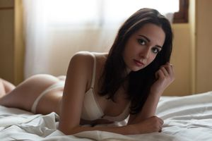 #women, #brunette, #blue eyes, #in..