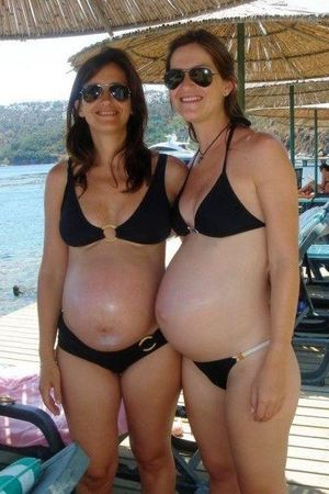 Pregnant Bikinis and Swimsuits..