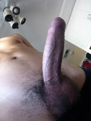 Cute Close Up Of An Erect Uncut Penis..
