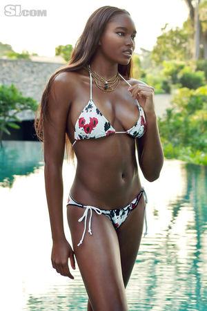Damaris Lewis SI Bikinis - Celebrity..