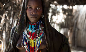 arbore tribe girl omo valley ethiopia..