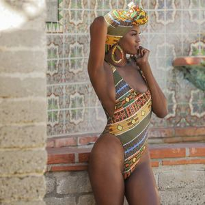 2017 New African Print One Pieces..