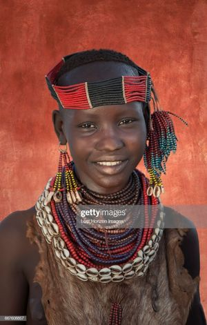 Young Girl Of The Karo Tribe Omo..