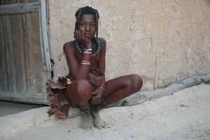 Himba Girls Bathing in River - Bing..