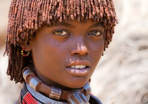 Girl from the Hamer tribe in Ethiopia...