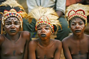 Real Africans from a tribe in Guinea..