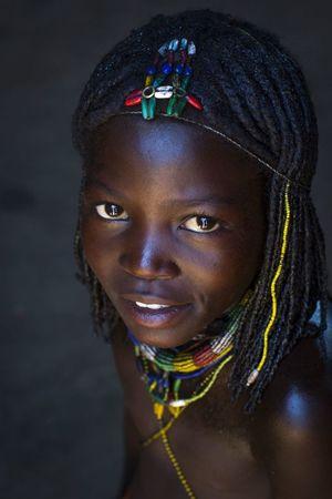 Mucawana tribe girl , Namibia Africa..