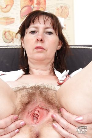 Brunette slut with a hairy pussy..