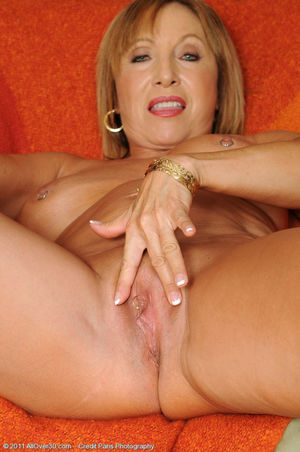60 year old Luna pulls her clit ring..