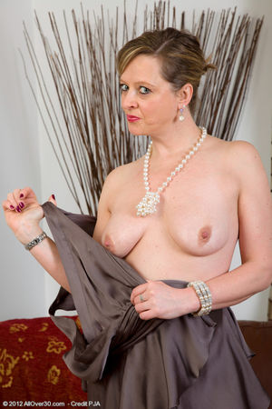 Sassy mature woman Lou teasing with..