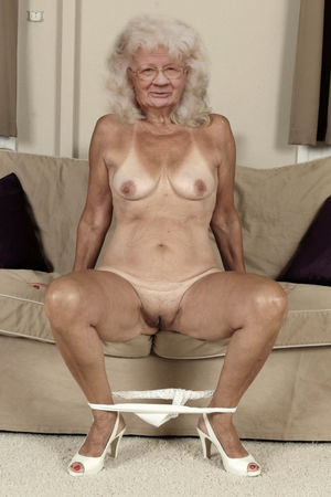 Right! seems shaved old granny pussy..