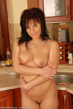 40 Year Old Mature Shaved Pussy -..