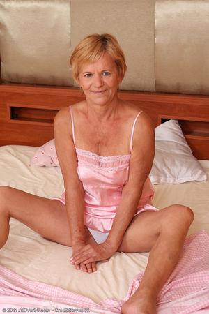 Lili Shows off Her Bushy 56 Year Old..
