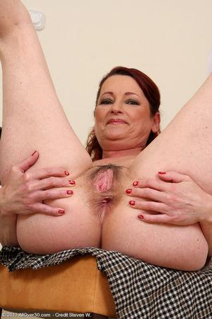 45 year old secretary displaying her..