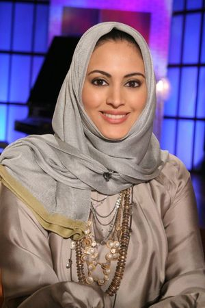 Beautiful women smiling in her hijab..