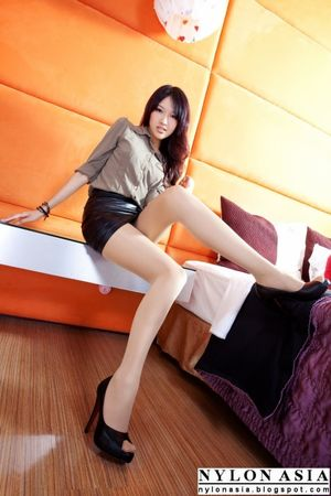 Office Lady Black Mini Skirt Tan..