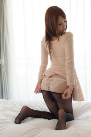 Japanese beauty young woman large..