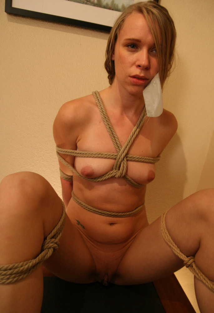 Teens Naked And Roped Up In A Bed