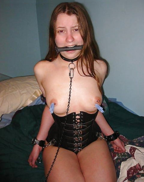 Amateur Teens in ballgag and ring gag, tied, bdsm - 47 Pics