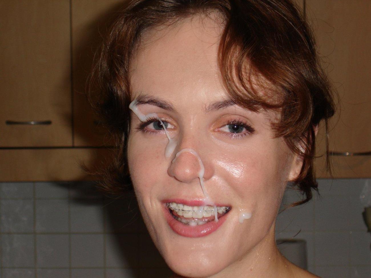 Beautiful Teen With Braces Cum Facial