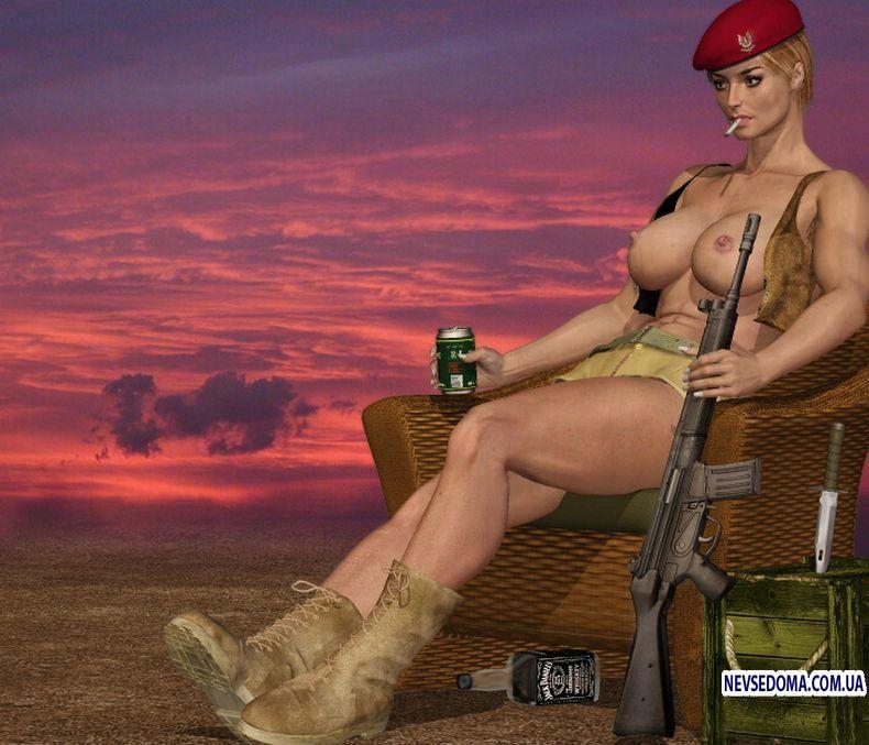 Sexy military man