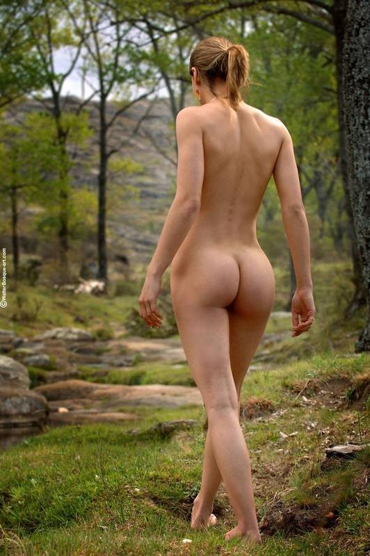 Skinny amateur nude outdoors