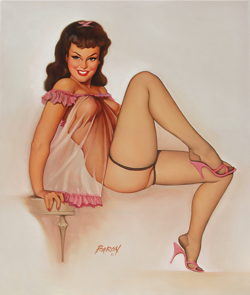 Nude Pin Up Girl Art