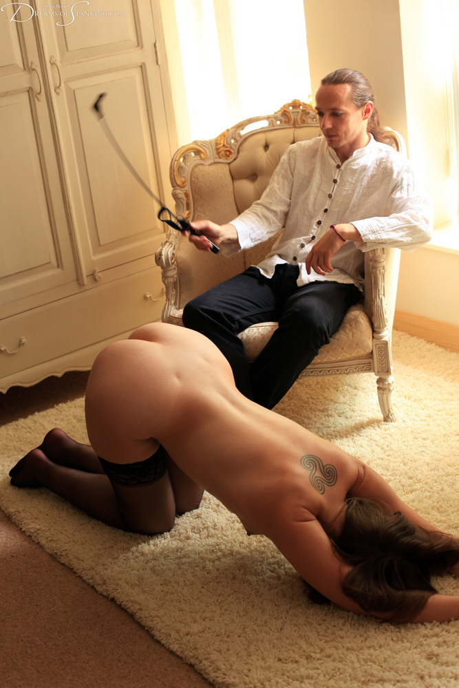 Submissive wife spank