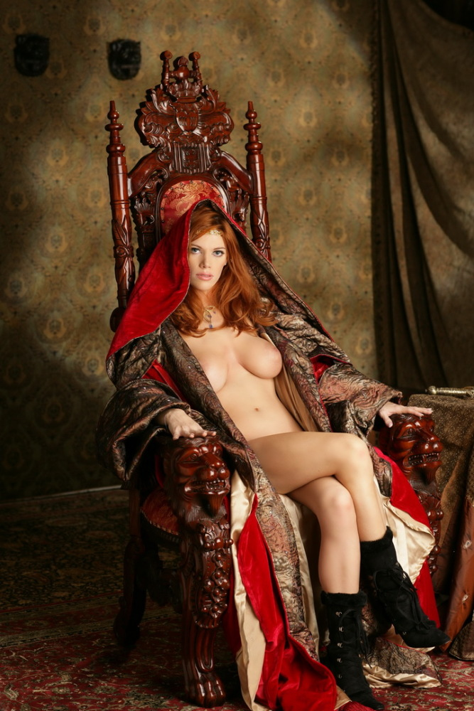 Sexy woman medieval image photo
