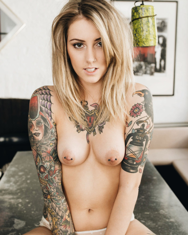 Nude babes with piercings