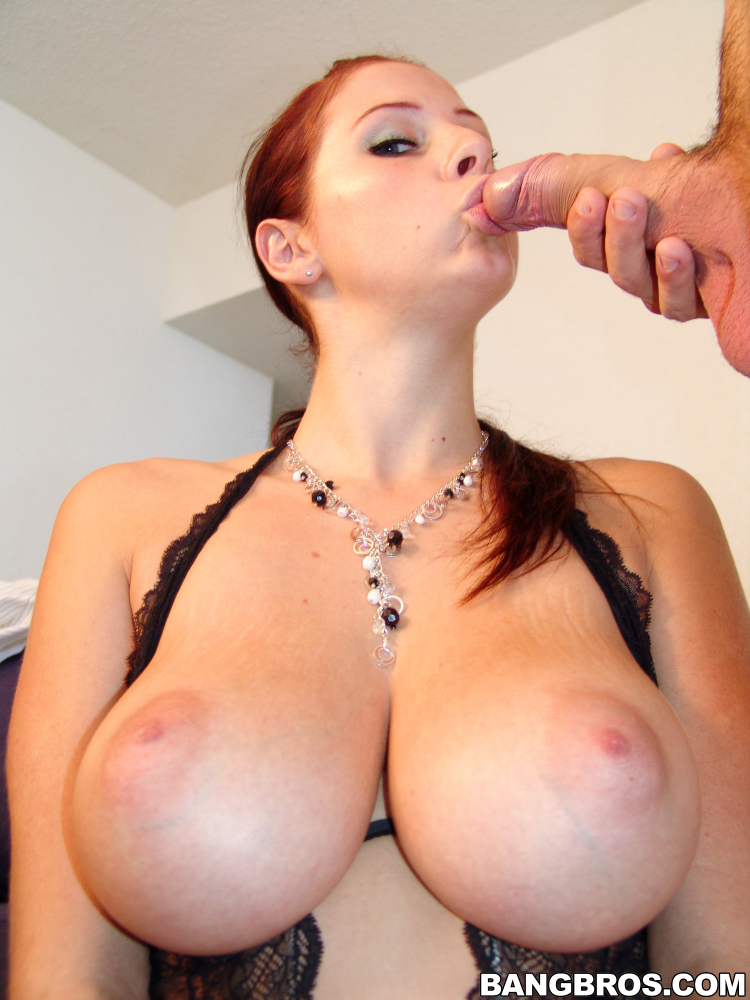 Sexy Girl Big Tits Sucks Big Dick Porn Photo