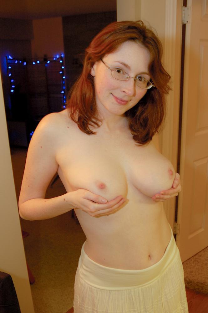 Watch hot nerdy glasses redhead milf sloppy pov blowjob