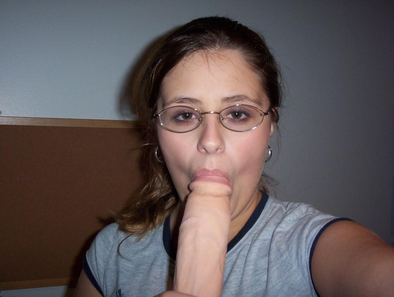 Sexy nerd glasses blowjob