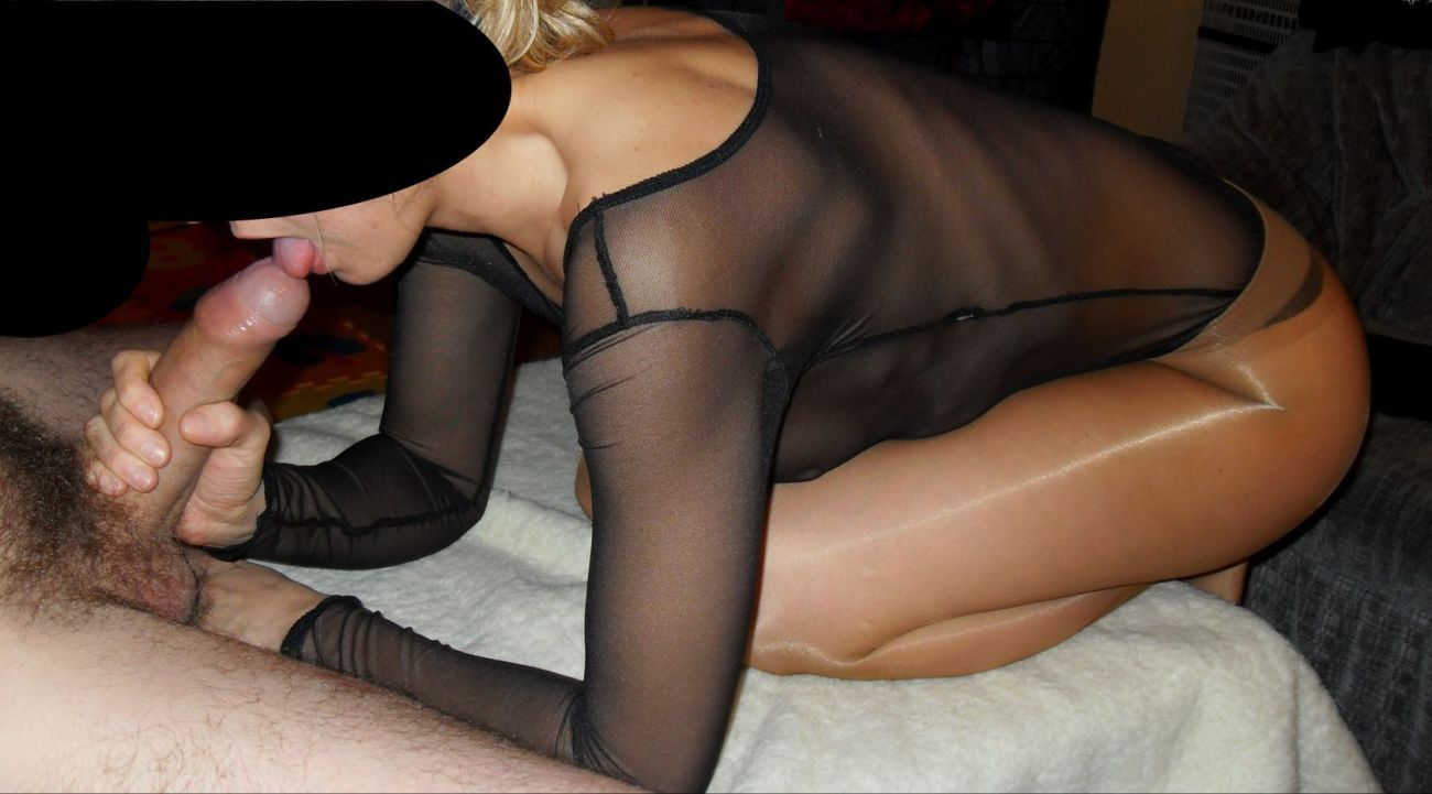 Hot Wife In Pantyhose Fucks With Her Husband's Friend