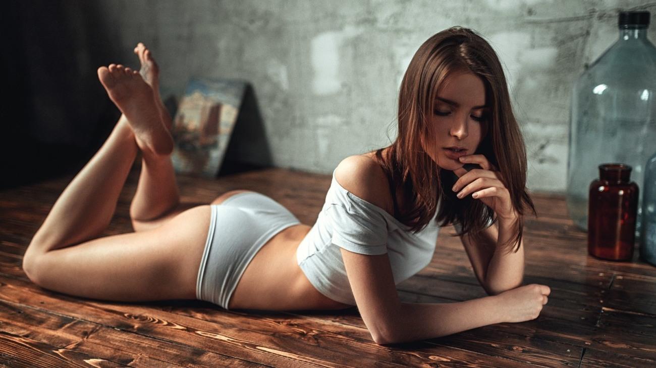 Hot Appealing Sexy Beautiful Young Woman Stock Photo