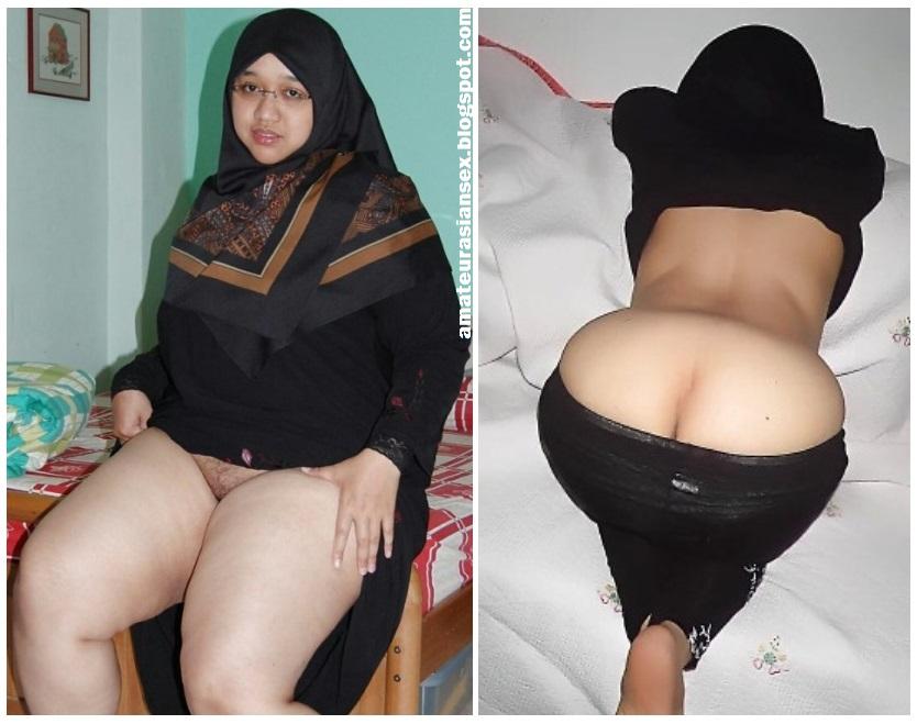 Beautiful muslim woman in hotel stock footage photo