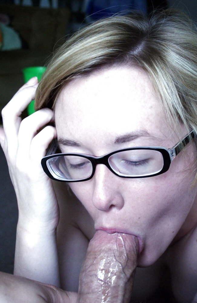 Sexy nerd blowjob gif